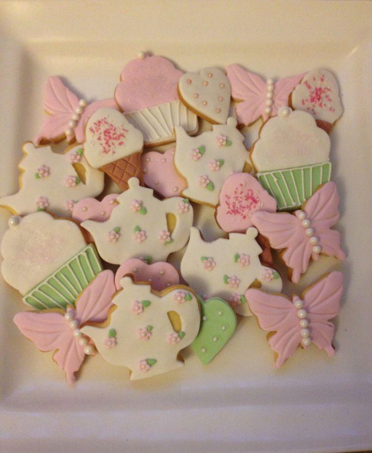 Tea themed cookies