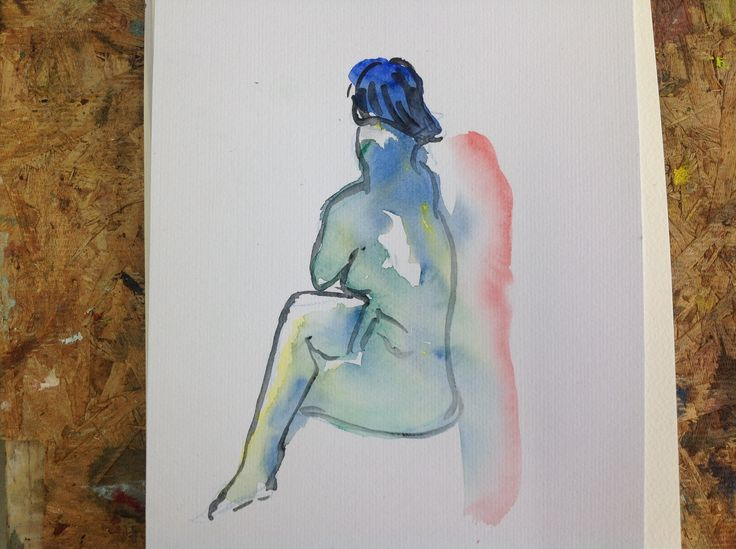 Malli, akvarelli 2014, Aalto