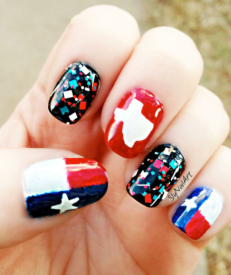 Prettyfulz Fall Nail Art Design 2011: 17 Best Ideas About Texas Nails On Pinterest