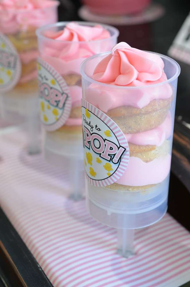 Push ups pops at a ready to pop baby shower party! See more party planning ideas at CatchMyParty.com!