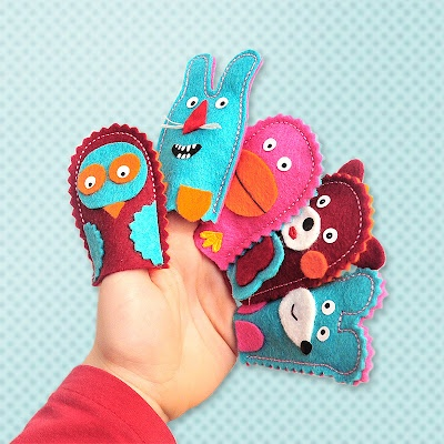 Set on creating of finger puppet ... (C) Sapito 2012   (www.sapito.cz)