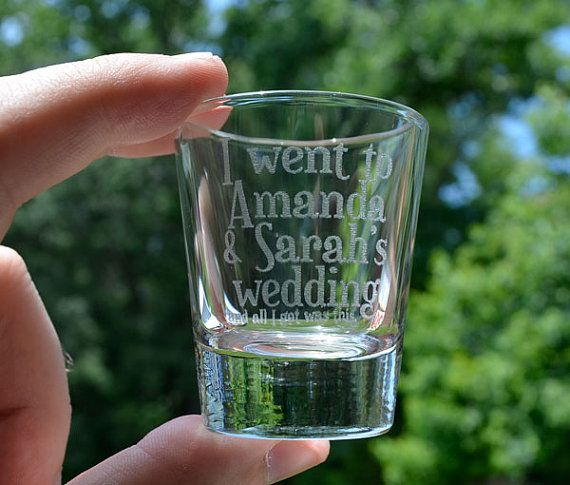 Personalized Laser Etched Shot Glasses Wedding Guest Gifts - Wedding Gift Set - Laser Engraved - A Fun Gift for Wedding Guests!