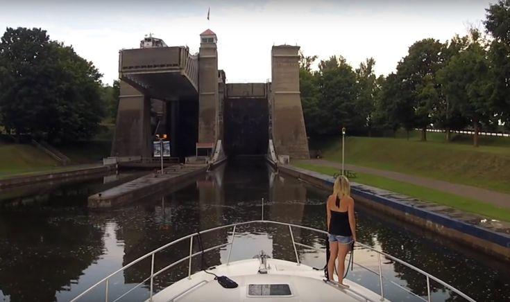 Boating Through Peterborough Lift Lock - Sit Back Sunday GoPro Cruise