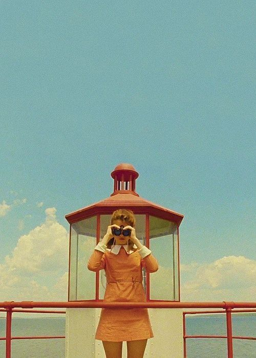 moonrise kingdom poster. This is such a great movie still, a work of art by Wes Anderson!