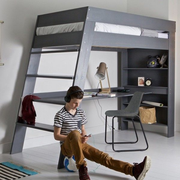 The Julien Loft Bed And Desk Is A Space Saving Combo With