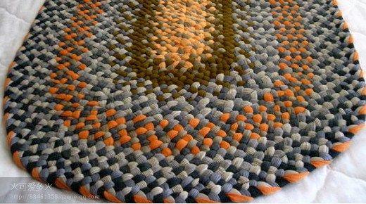 Hacer alfombra de trapillo con trenzas sin costura ...