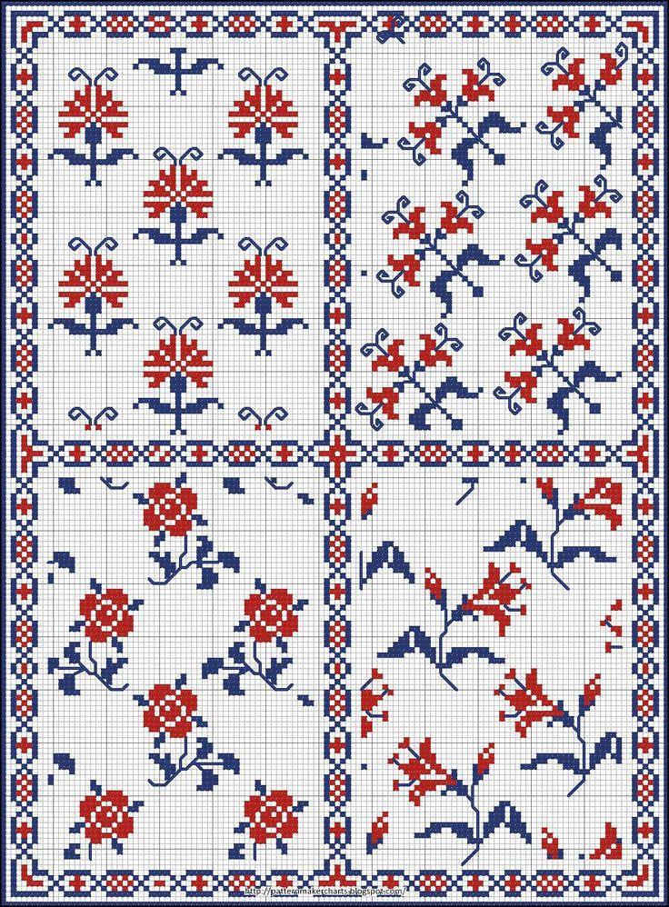 Free Easy Cross, Pattern Maker, PCStitch Charts + Free Historic Old Pattern Books: Sajou No185