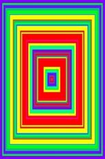Armstrong Wonderful World, sonochromatic by Neil Harbisson (95 x 45 cm) - Limited edition print
