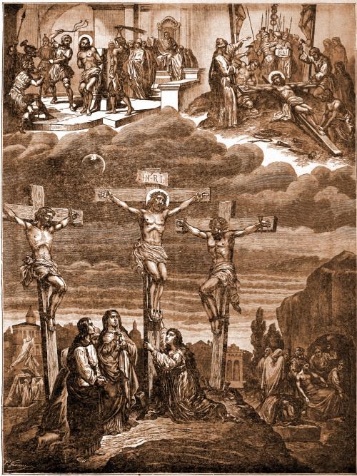 Vierde artikel – Die geleden heeft onder Pontius Pilatus, gekruisigd is, gestorven en begraven.   Toch heeft de Heer zozeer voor ons willen lijden, omdat Hij ons zijn immense liefde wilde tonen en in onze harten een hevige afkeer van de zonde wilde inplanten.