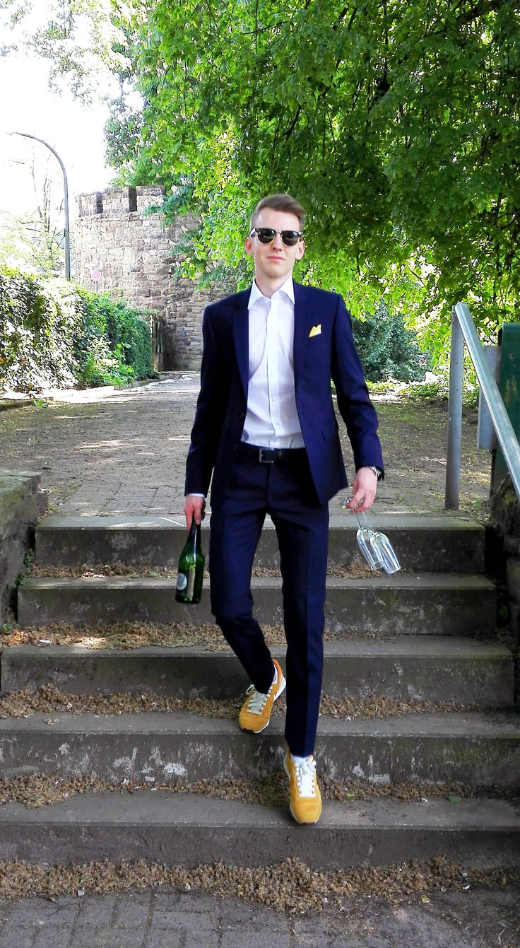 Outfit der Woche! Slim Fit Anzug: Digel – Hemd: Olymp Bodyfit – Einstecktuch: s.Oliver Selection - Gürtel mit Flechtmuster: Brax #fashion #ootw