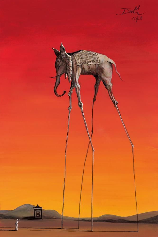 Elephant In The Style Of Salvador Dali, 1948 – 2015 - The John Myatt Collection - Art - Castle Galleries