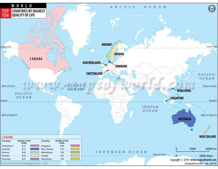 214 best world map images on pinterest wall maps cork boards and cork buy thematic map showing top ten countries of world with highest quality of life gumiabroncs Choice Image