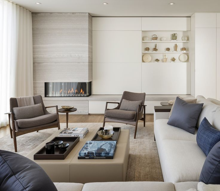 """Bright White Fireplace Contemporary Living Room: Sutro Architects """"almost White Out"""" #modern"""