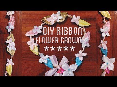 DIY Ribbon Flower Crown in 90 Seconds