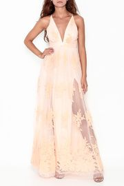 Peach Maxi Dress. Ships to Canada.