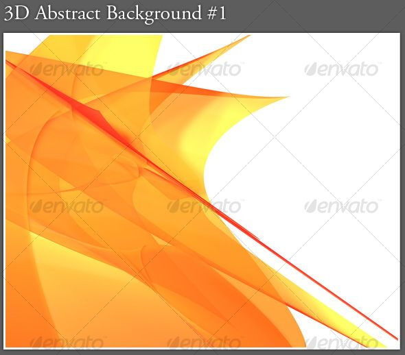 3D Abstract Background #1