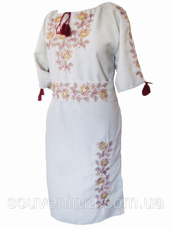 Платье с вышивкой Солнечные лучи (Платья с вышивкой в украинском стиле) купить с доставкой по Украине. ID Товара: [ID Товара]