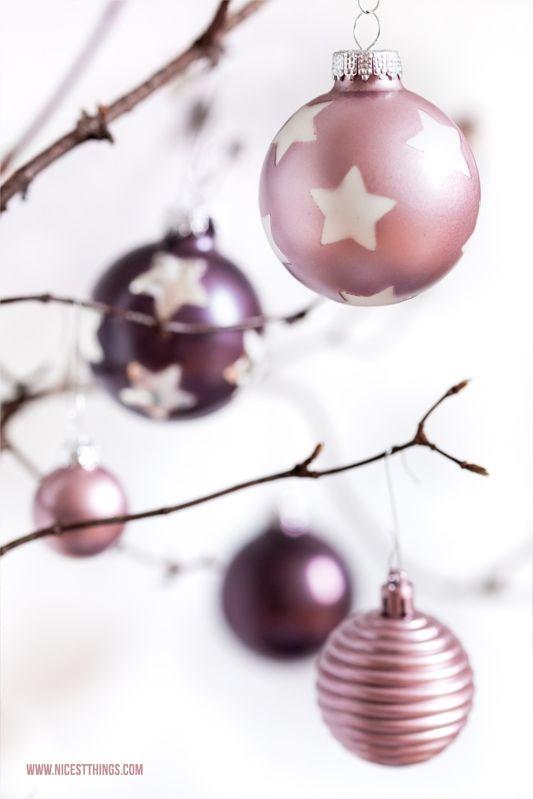DIY Weihnachtskugeln Kugeln Weihnachten Deko Metallic Sprühfarbe