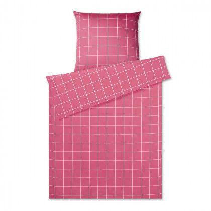#beds #bedlinen Elegante Mako-Satin Bettwäsche Easy Simple Check himbeer 155x200 cm + 80x80 cm: Elegante Mako-Satin… #mattresses #pillows