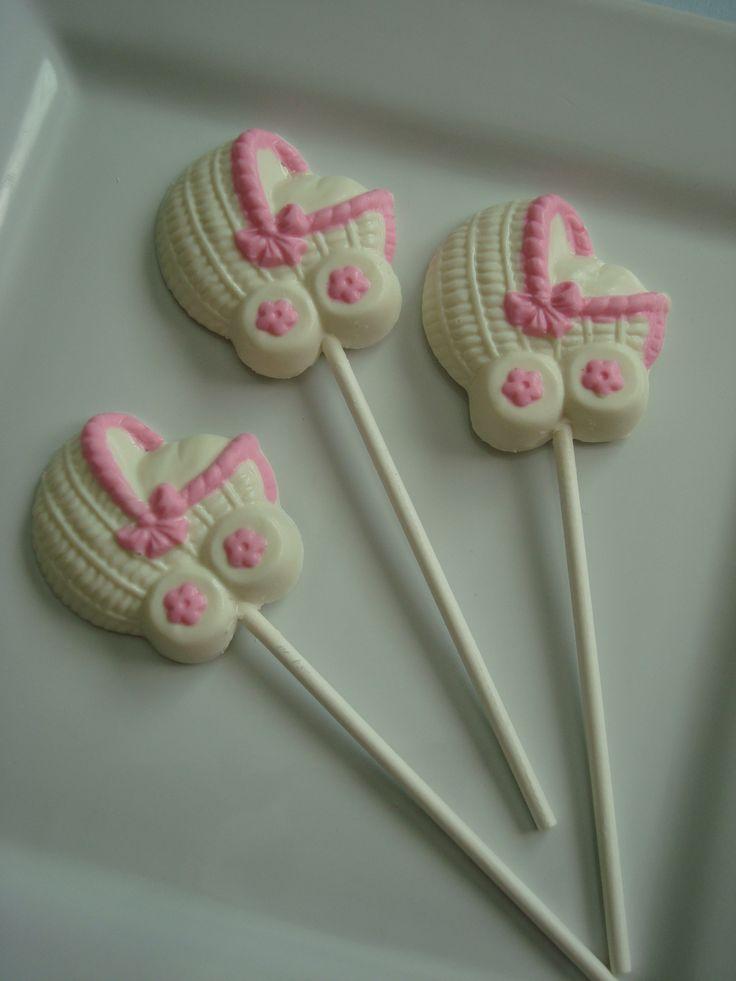 White Chocolate Baby Shower Lollipop