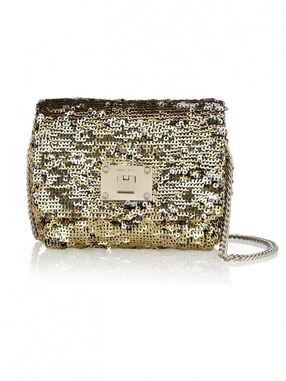 Dress up a LBD with this sparkly bag // Jimmy Choo Ruby Mini Two-Tone Sequined Shoulder Bag