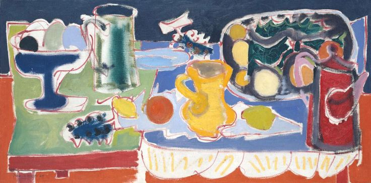 """Patrick Heron, """"The Long Table With Fruit"""", 1949"""