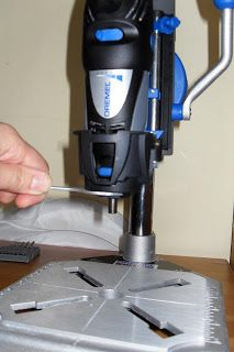 I just wanted to show my latest very handy purchase - Dremel workstation.   To insert your Dremel tool into its holder, you have to remove t...