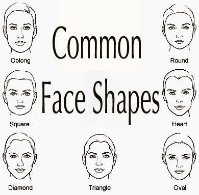 face shapes | Here is a chart that illustrates the most common face shapes ...