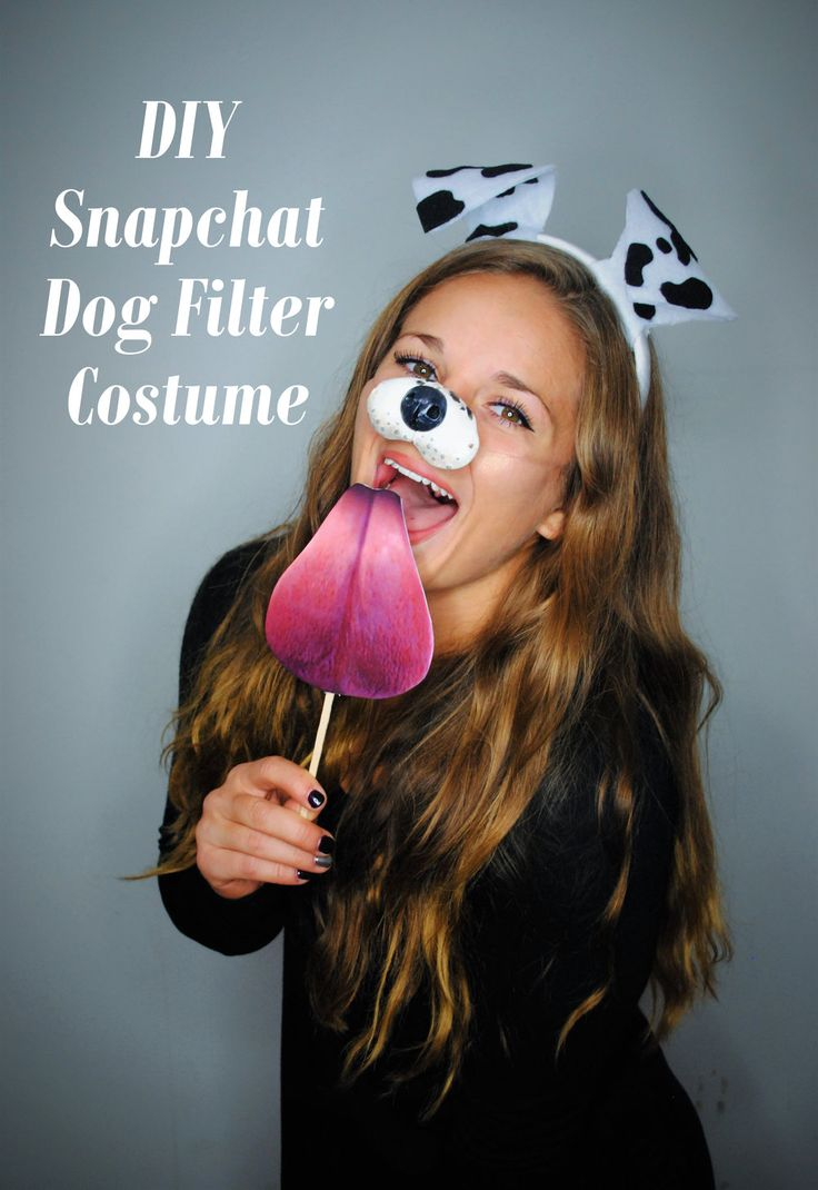 Super cute Snapchat Dog Filter costume for the best outfit at your Halloween party!