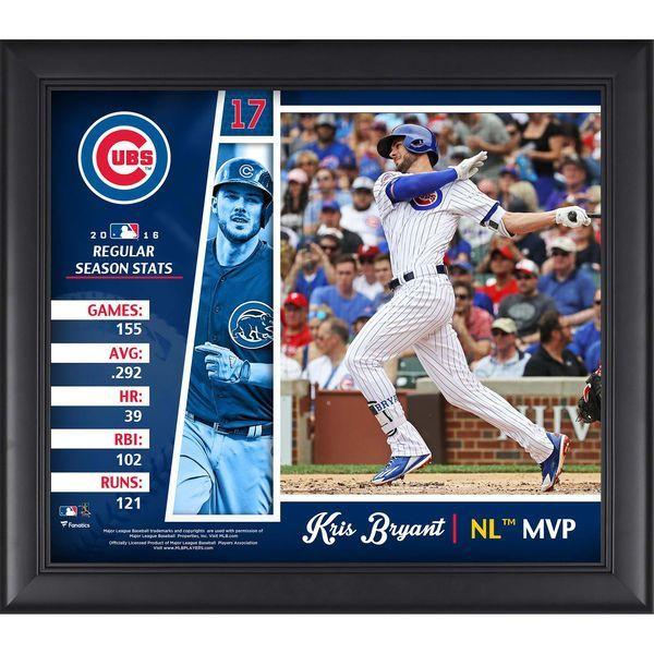 "Kris Bryant Chicago Cubs Fanatics Authentic Framed 15"" x 17"" 2016 National League MVP Collage - $49.99"