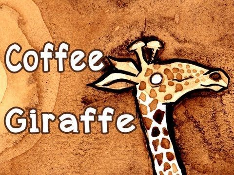 Coffee Giraffe - this is outrageous. the artist paints a giraffe out of coffee!!!