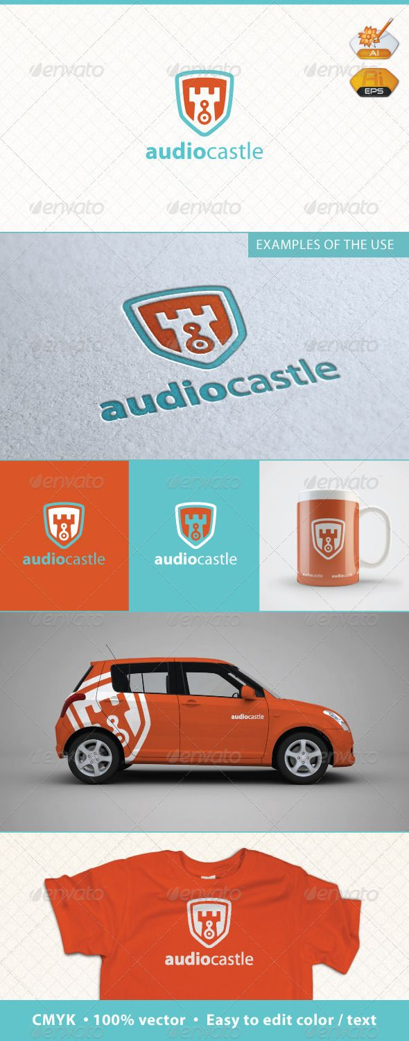 Audio Castle Logo Template   You buy here and get a logo. Other items are just an example of its application. Customization  If you have bought a logo form me on GraphicRiver and need some customization  (changing color, modifying texts, changing position of elements, remove some element or text), send me e-mail.  Customization costs 25$.  You can pay by PayPal or Payoneer.      Created: 22June12 GraphicsFilesIncluded:  audio #branding #castle #music #musicmagazine #musicportal