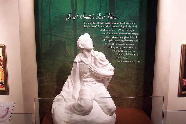 Statue of Joseph Smith's First Vision by J. Stephen Conn, via Flickr