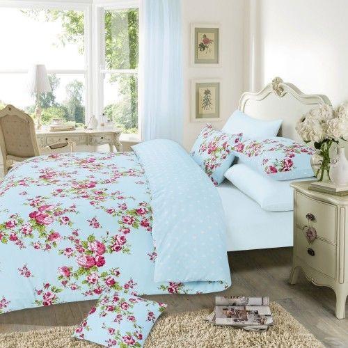 Bettwäsche Set Mara mit Blumen Muster
