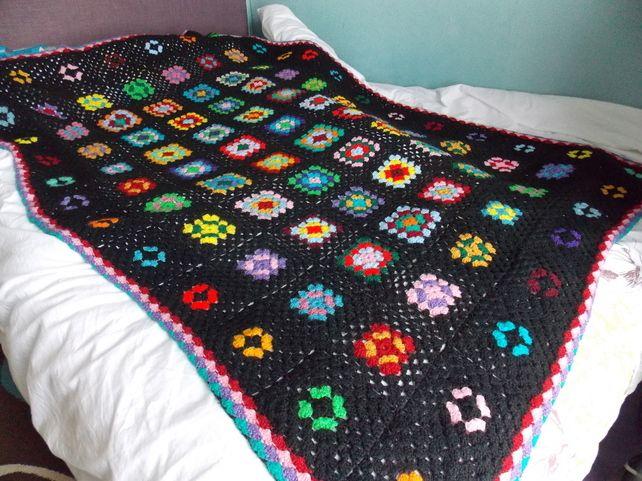 Bright Crochet Throw