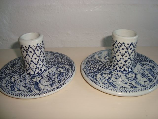 BJØRN WIINBLAD candlesticks/stager 1970s.  #klitgaarden #bjørnwiinblad #flora #danishdesign #danishceramics #ceramics #danskkeramik #keramik #candlesticks #stager. From www.TRENDYenser.com. SOLGT.