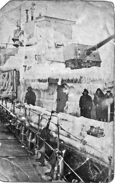 HMS Bedouin, 1942 at Iceland waiting for Arctic convoy.
