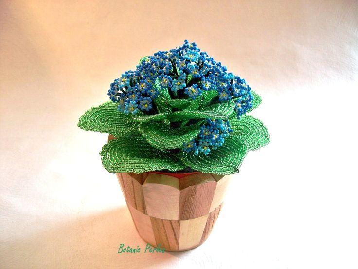 44 best mes fleurs en perles my beaded flowers images on for Plante bleue
