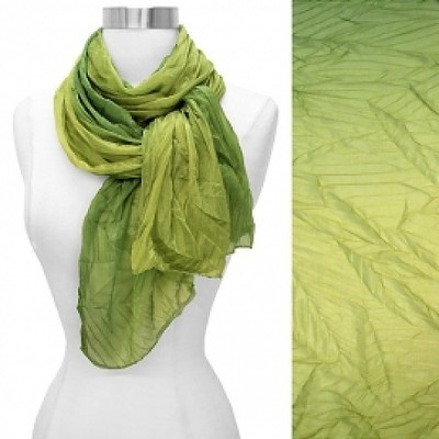 Scarf Ombre Green Silky Fabric Pleated Light Weight Wrap Fashion Accessory   http://stores.ebay.com/beachcats-bargains @ beachcats bargainsFabrics Pleated, Scarf Ombre, Beachcat Bargain, Lights Weights, Ombre Green, Feelings Fabrics, Fashion Accessories, Silk Feelings, Green Silk
