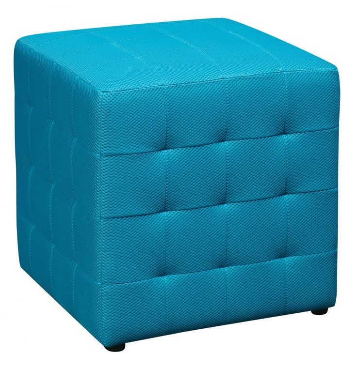 """OSP Designs Detour 15"""" Blue Fabric Cube. A versatile and colorful piece, the OSP Designs Detour 15"""" Mesh Cube can easily be added to any room of the house to serve as extra seating, an ottoman, or side table. Covered in high performance fabric makes this an ideal place to sit when extra seating is required or arrange two around a coffee table for an interesting styling element. The light cube is easy to move around any space and the flat top makes it an obvious side or coffee table...."""