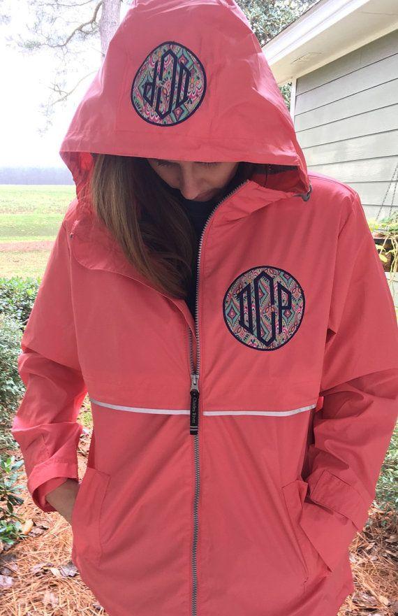 Lilly Inspired Monogrammed Rain Coat Jacket by thepurplepetunia