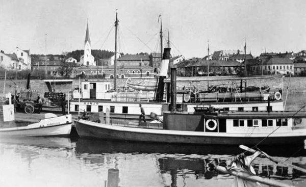 Mjøsa ved Hamar DS Lettvindt, Hamar og Bundefjord ca 1910.