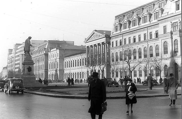 Via București Universitatea văzută de Willy Pragher în anii '40.