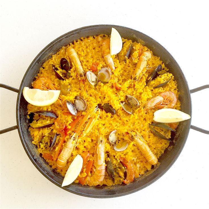 Fish and seafood paella typical spanish recipe icon of for Fish recipes for kids