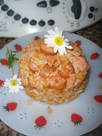 receitinhas da belinha gulosa: Arroz de salsichas e néctar de laranja- Receita Bimby e tradicional