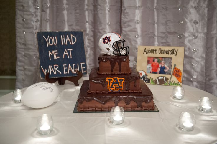 Auburn Grooms Cake  | War Eagle Wedding | Auburn Wedding | Football Grooms Cake | Samford Lawn Wedding