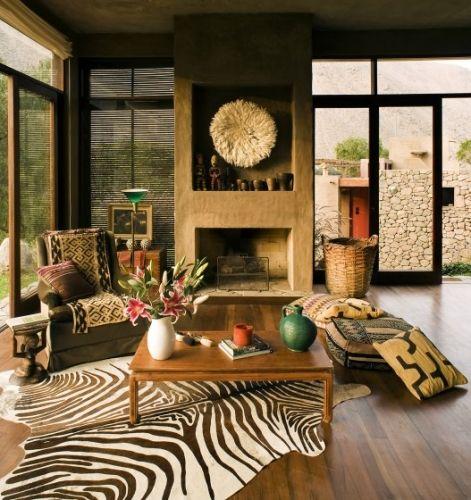 1 Interior casa construita din lemn si lut