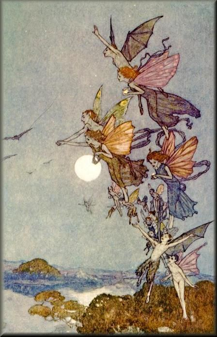 """Ye Elves of the Hills, Brooks, Standing Lakes, and Groves""  Edmund Dulac"