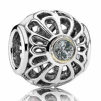 BEAD S/S & 14Y VINTAGE LACE WITH GREEN SYNTHETIC SPINEL BEZEL SET - Jons Family Jewellers