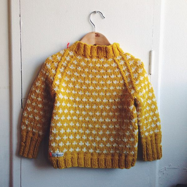 This sweater must be the perfect children's sweater for autumn and winter. In the autumn in can be used instead of a jacket and in the winter under a jacket, wh